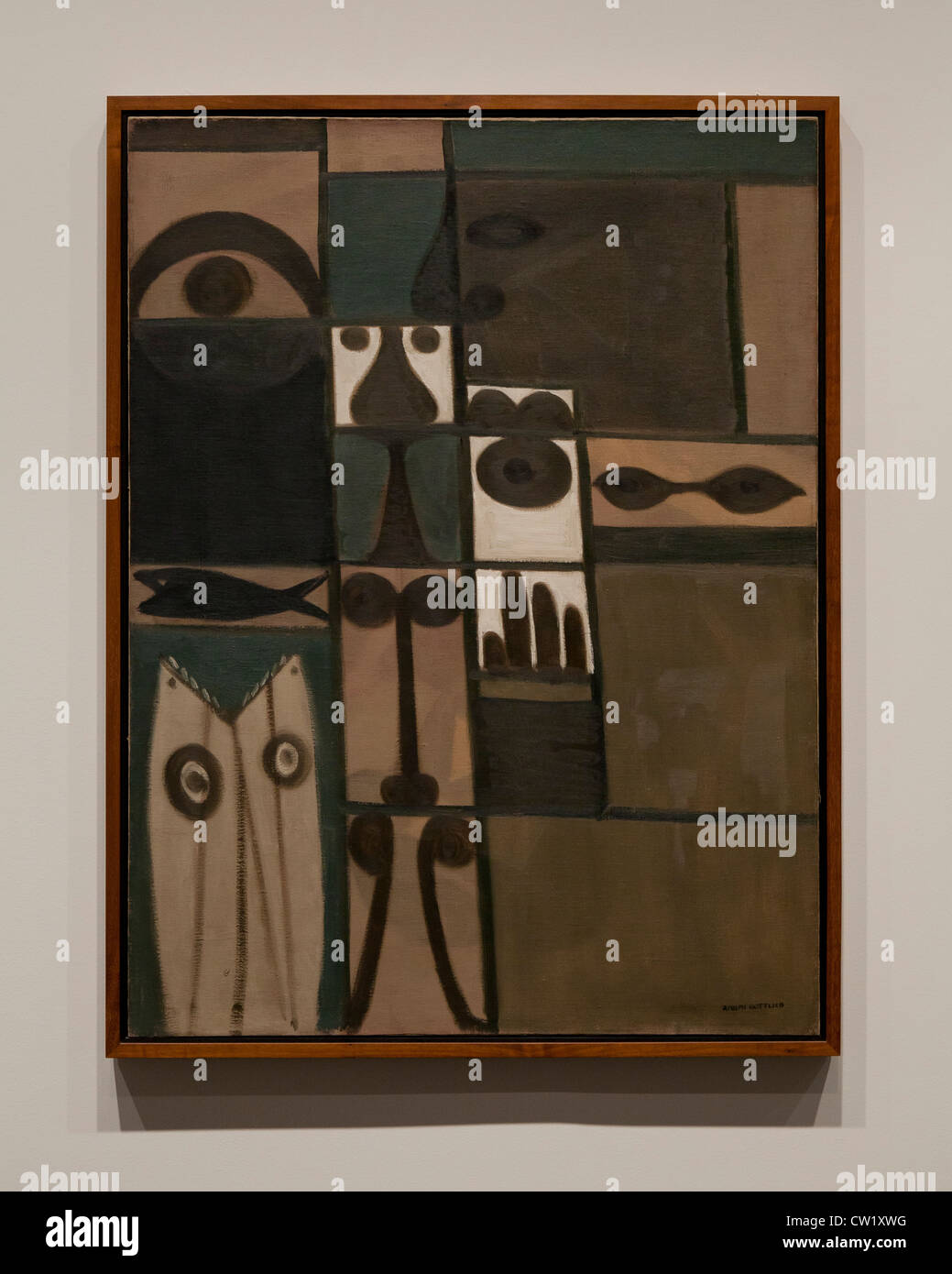 'Pictograph' by Adolph Gottlieb, 1942 - Stock Image