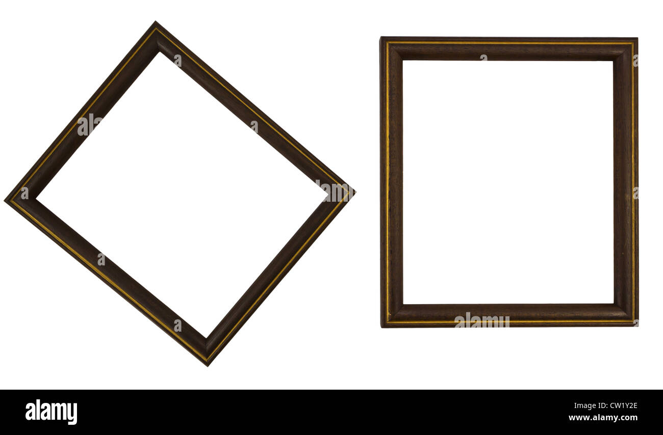 Isolated Photo of Wooden Frames. - Stock Image
