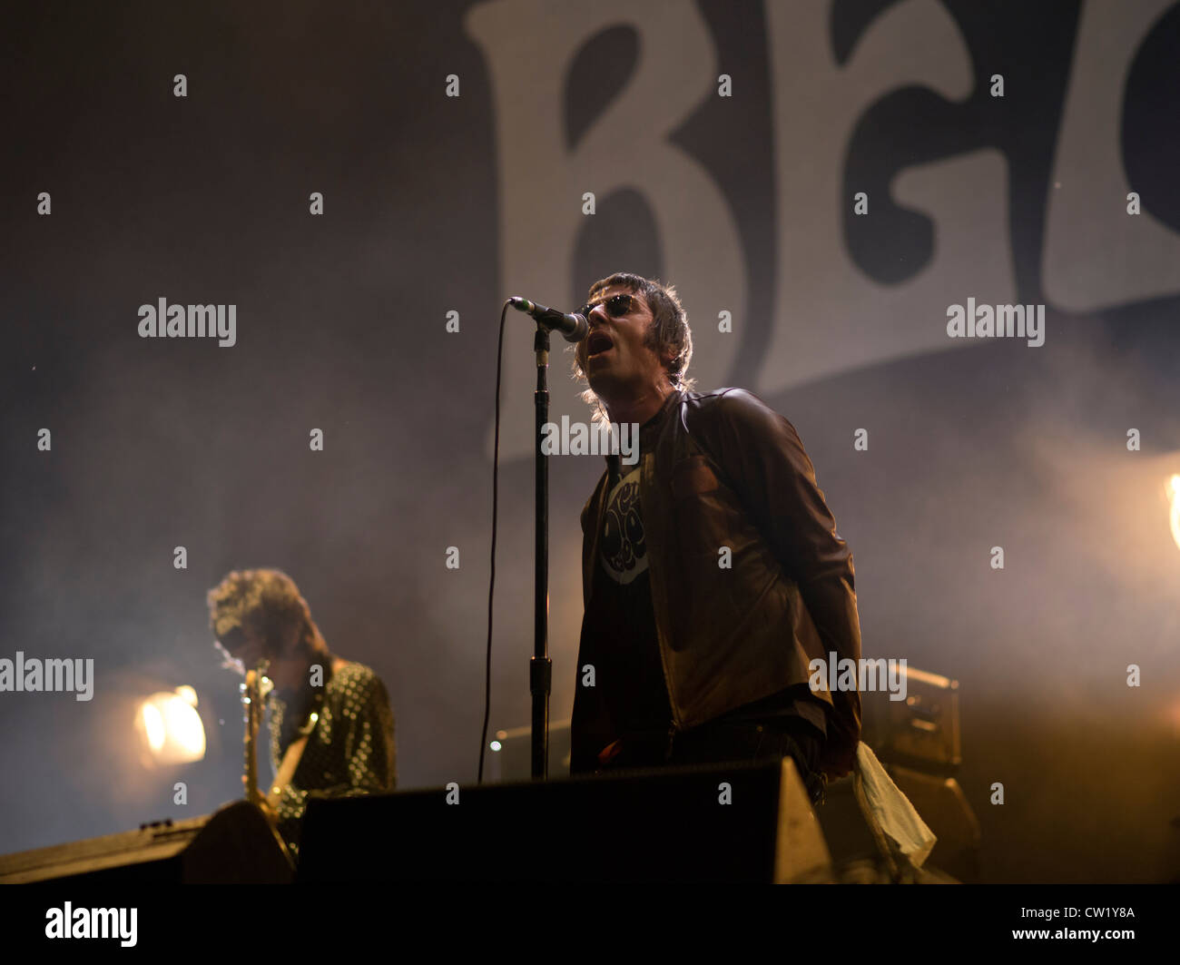 Liam Gallagher with Beady Eye formerly of Oasis - Stock Image