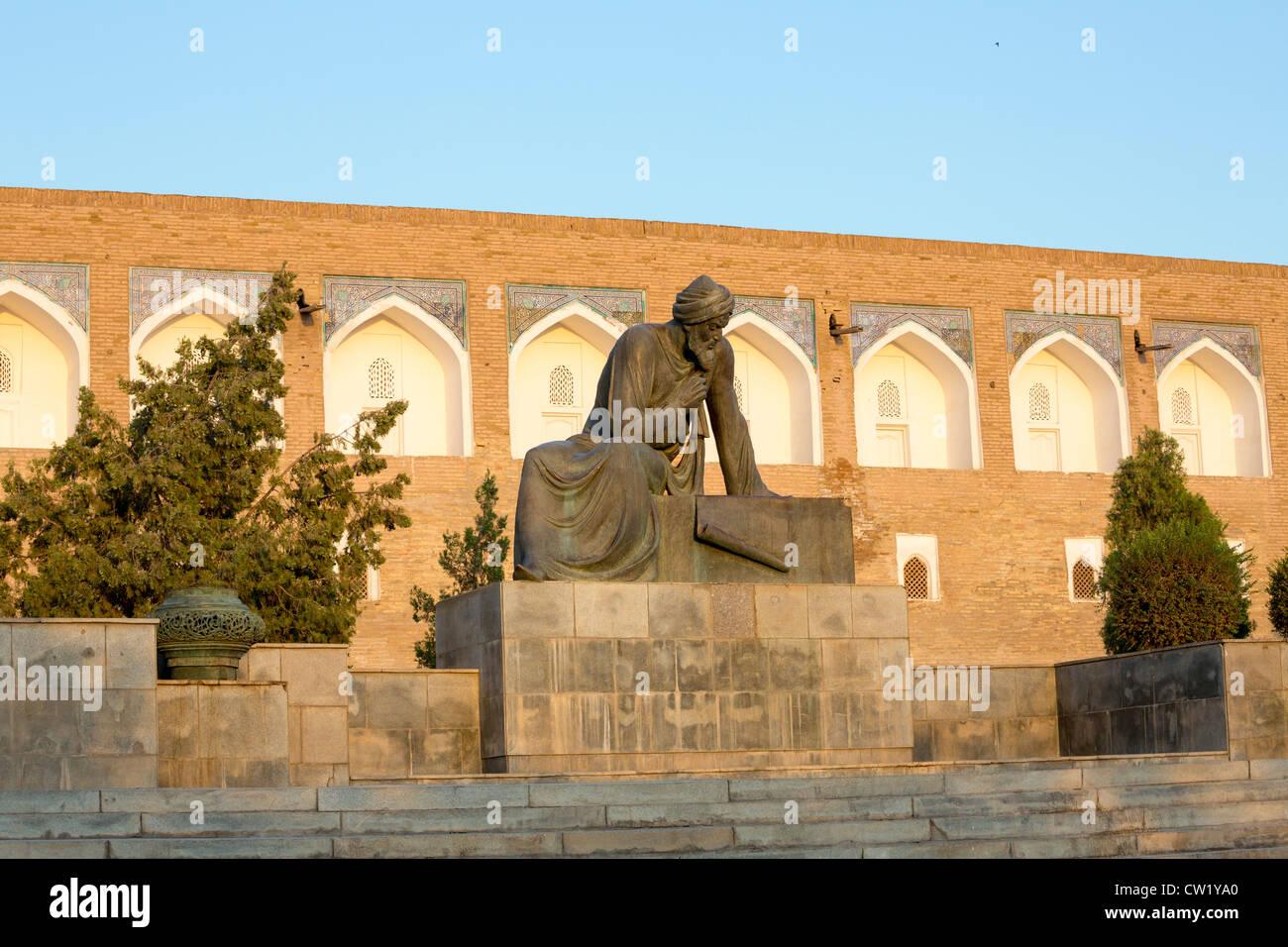 statue of the mathematician al-Khwarizmi, Khiva, Uxbekistan - Stock Image