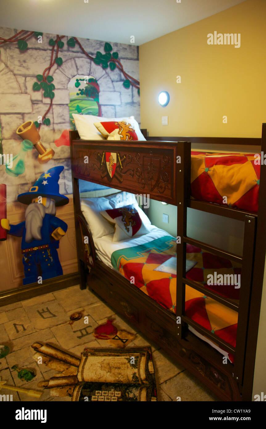 Kingdom Themed Bedroom At Legoland Hotel Windsor England Stock