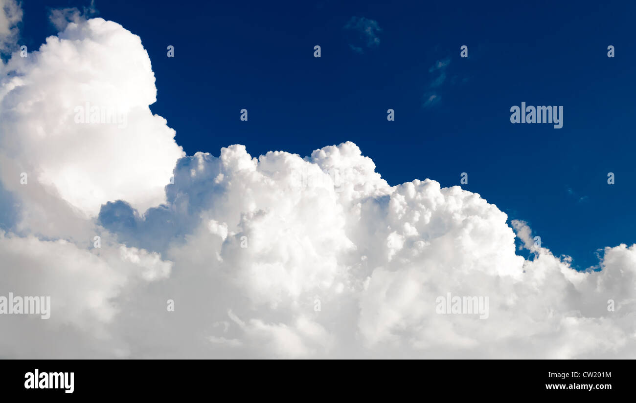 Cloud scape Sky background over the blue sky - Stock Image