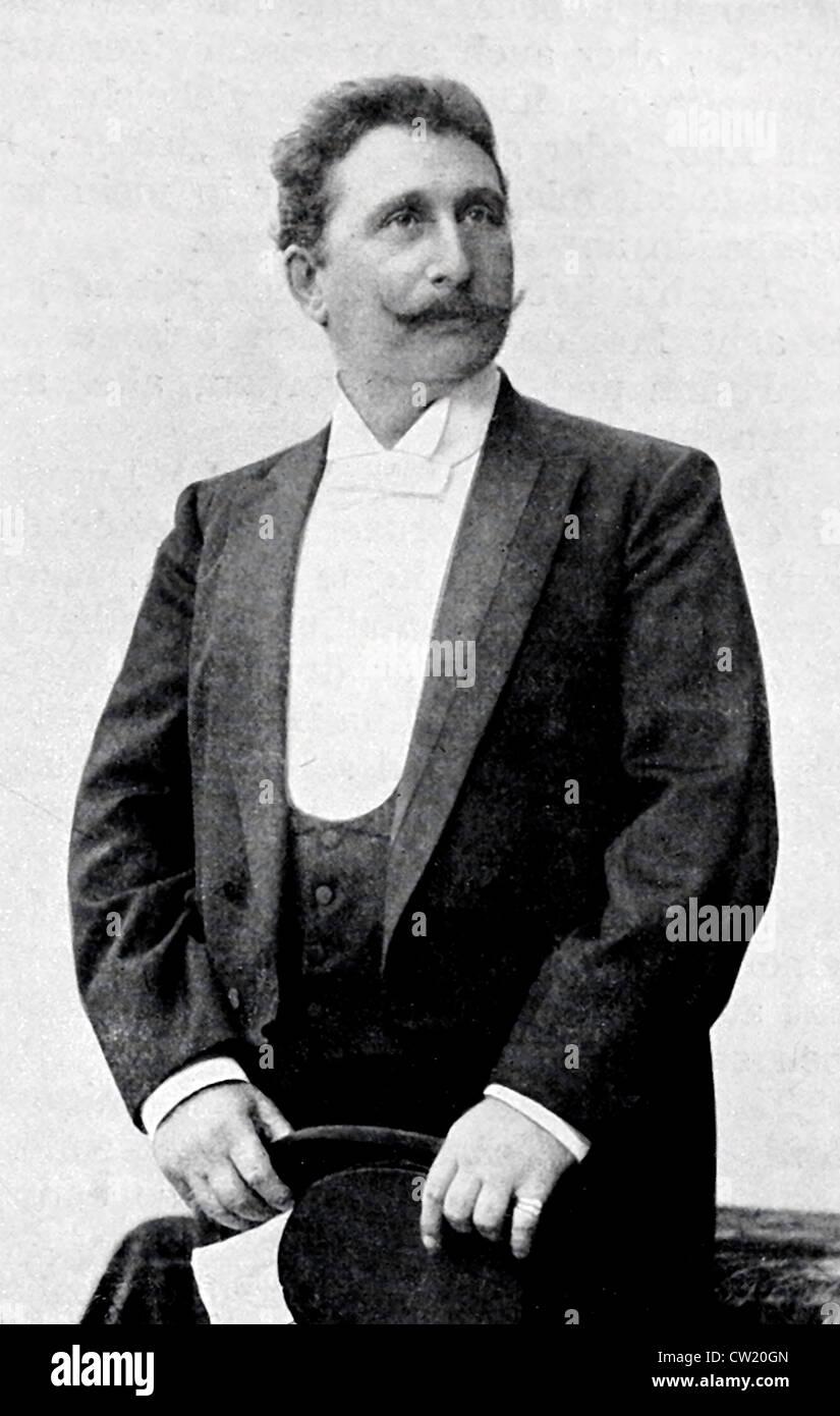 Ludwig Strakosch opera singer Stock Photo
