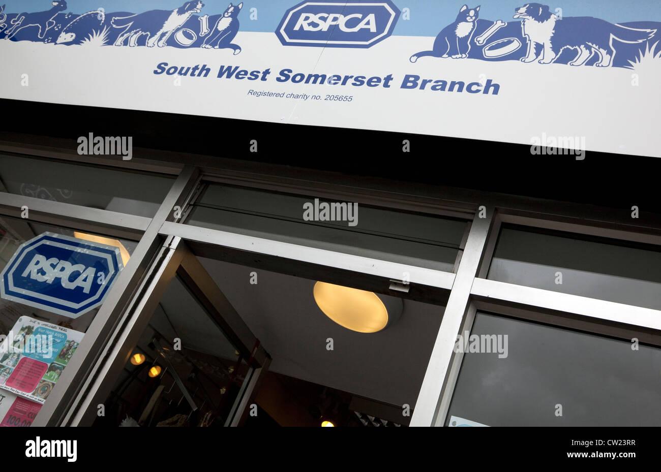 RSPCA animal charity shop, Wellington, Somerset, England - Stock Image