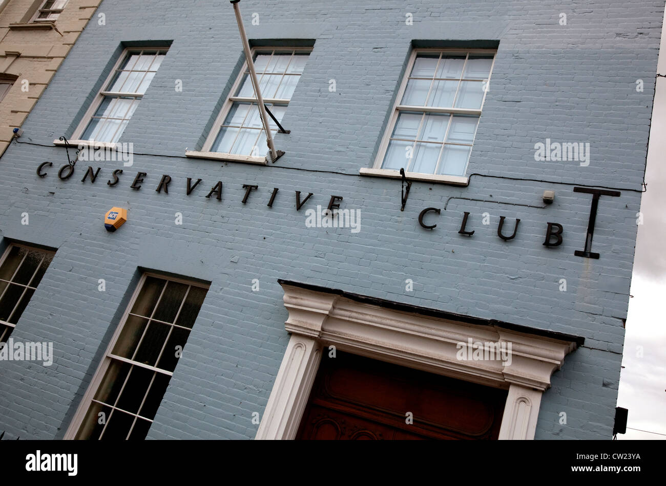 Conservative Club in Wellington, Somerset, England - Stock Image