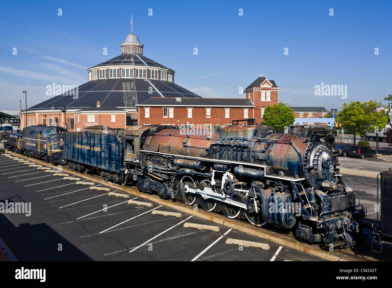 Baltimore and Ohio Railroad Museum in Mt. Clare Shops, is oldest RR collection in the world, Baltimore Maryland - Stock Image