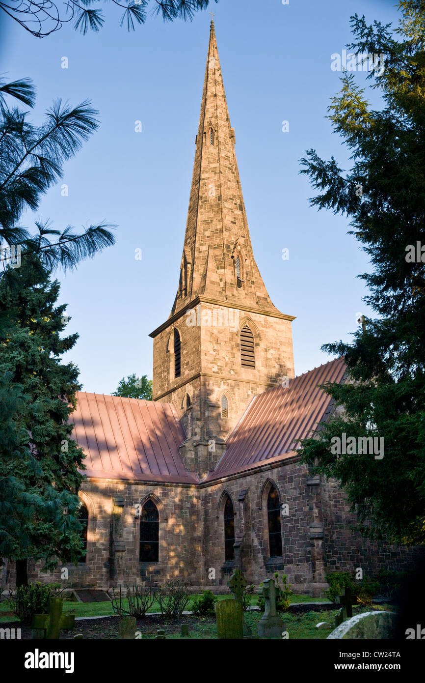 New St. Mary's, 1854, Burlington, New Jersey, one of first cruciform structures in USA - Stock Image