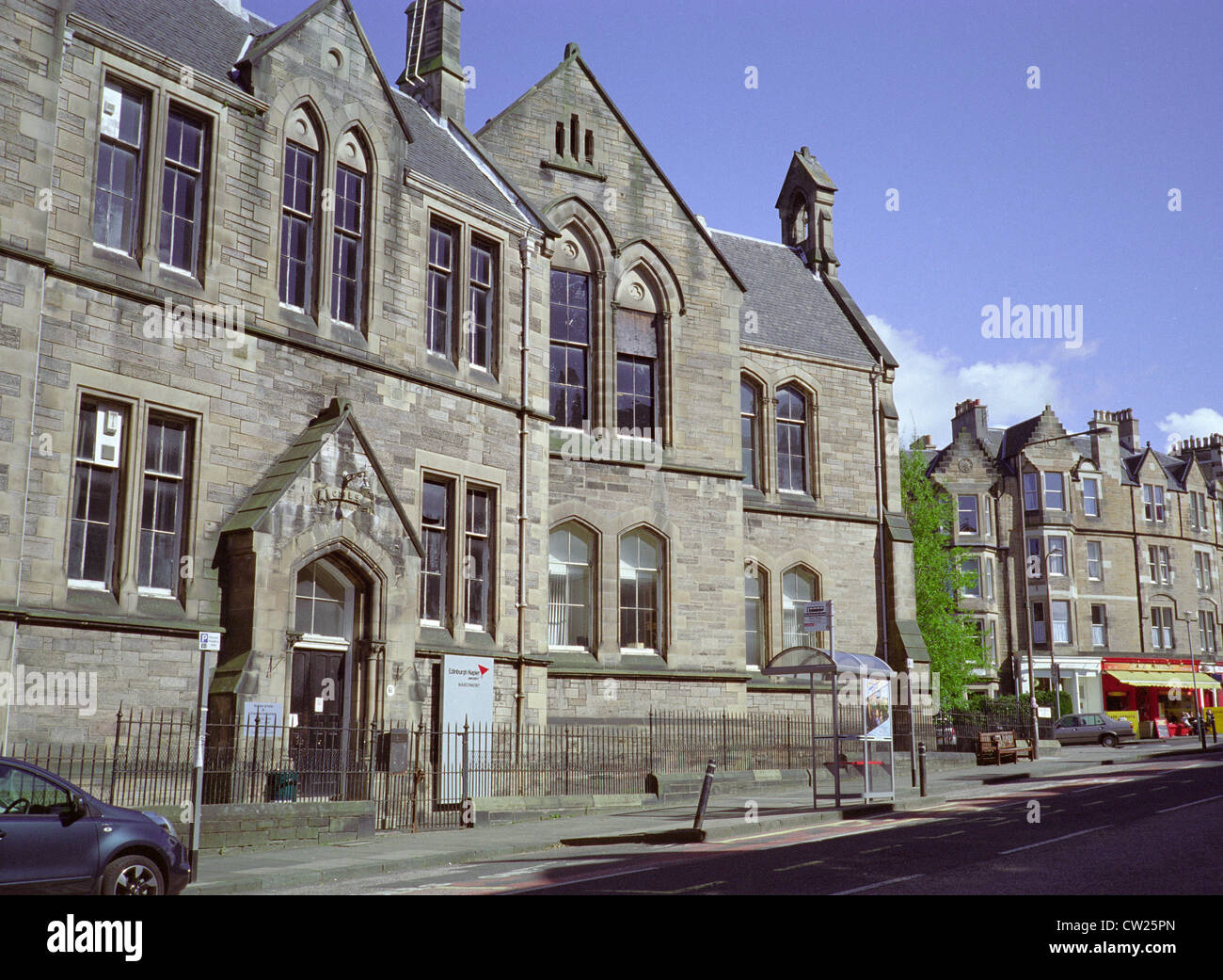 School of Arts & Creative Industries, Marchmont Road, Napier University, Marchmont Campus, Edinburgh, Scotland, - Stock Image