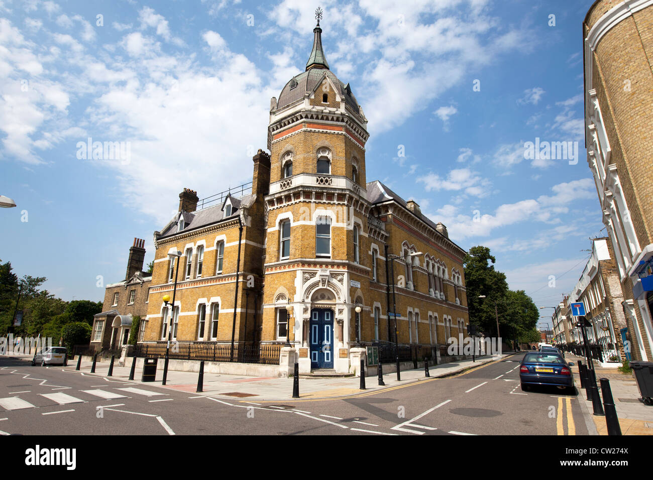 Former Board of Works building at the junction of Poplar High Street and Woodstock Terrace, Poplar, Tower Hamlets, - Stock Image
