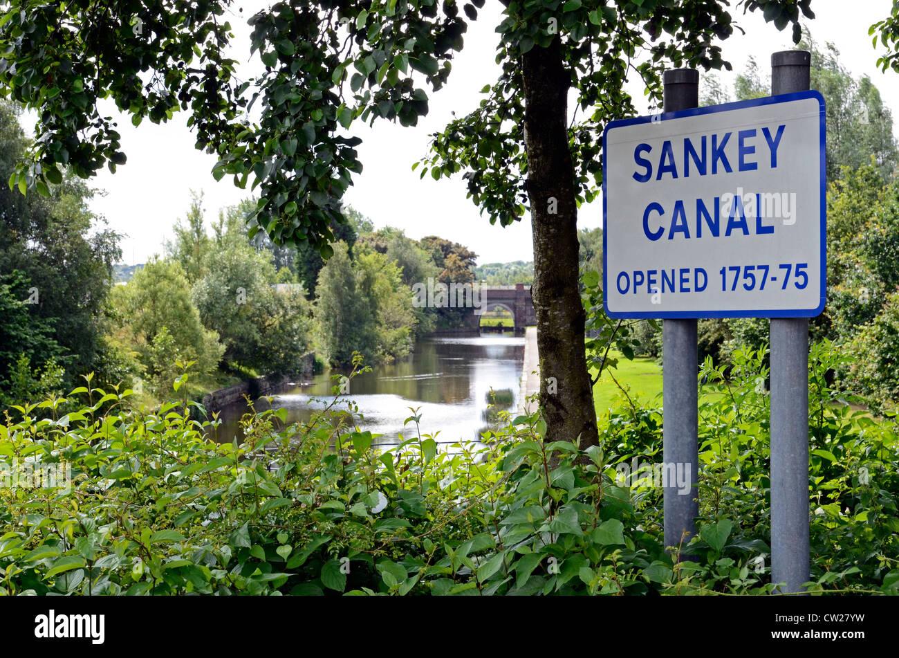 The Sankey canal in St.Helens, Lancashire, England, UK Stock Photo