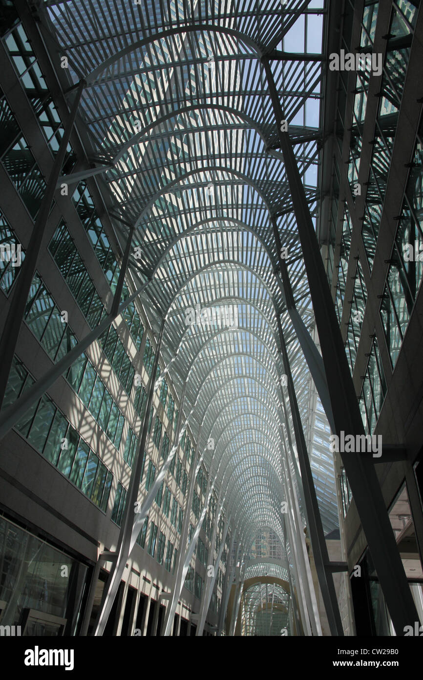 Toronto office building interior courtyard BCE Place Galleria - Stock Image