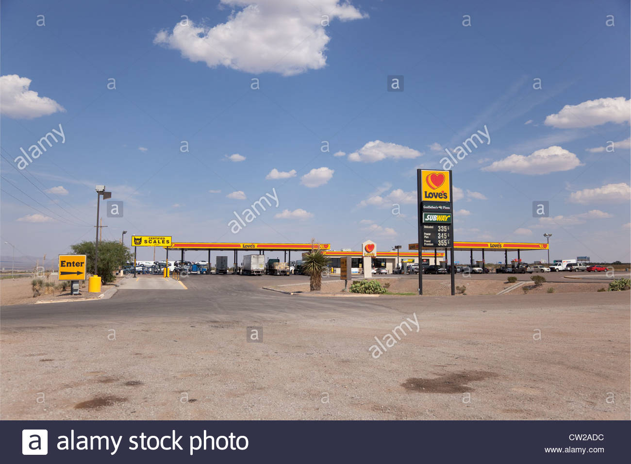 Love's Truck Stop Lordsburg New Mexico - Stock Image
