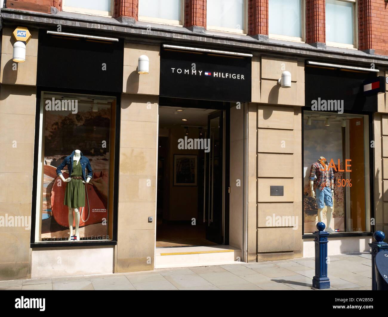 fbe903dc Tommy Hilfiger store in King Street Manchester UK Stock Photo ...