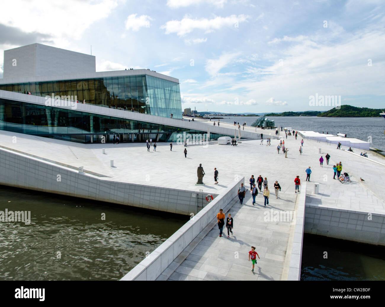 Opera House Oslo Norway Scandinavia - Stock Image