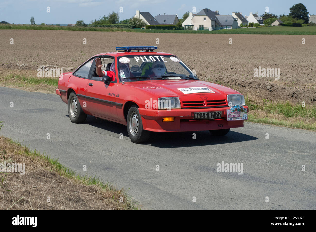 Tour Of 1981 Stock Photos Images Alamy Motorheads Performance Classic Car News Wiring Nightmares Can Be Opel Manta Gt In The De Bretagne Near Pordic Cotes D