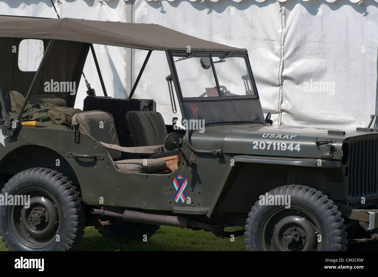 USAAF US Air Force Jeep - Stock Image