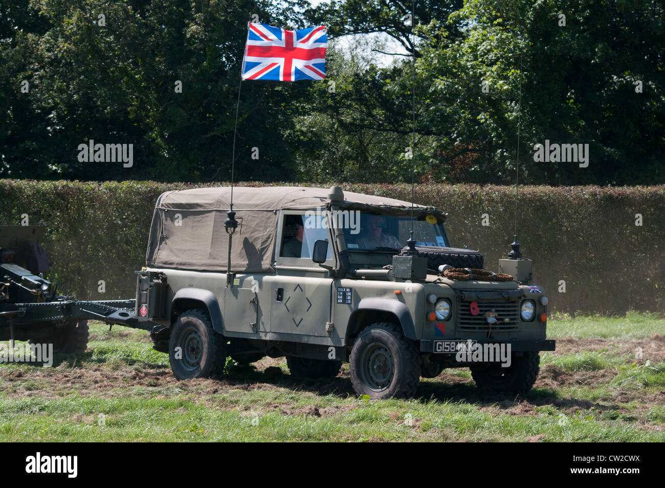 British Army Landrover - Stock Image