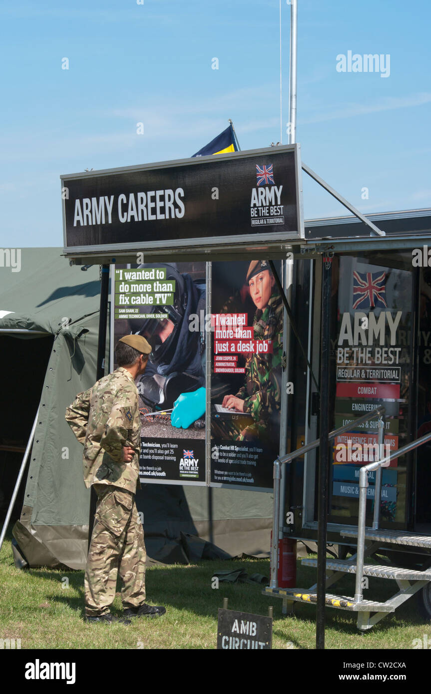 Army Careers Office UK Stock Photo