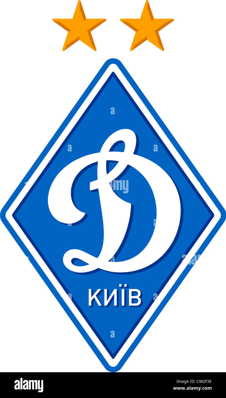 Logo of Ukrainian football team Dynamo Kyiv. - Stock Image