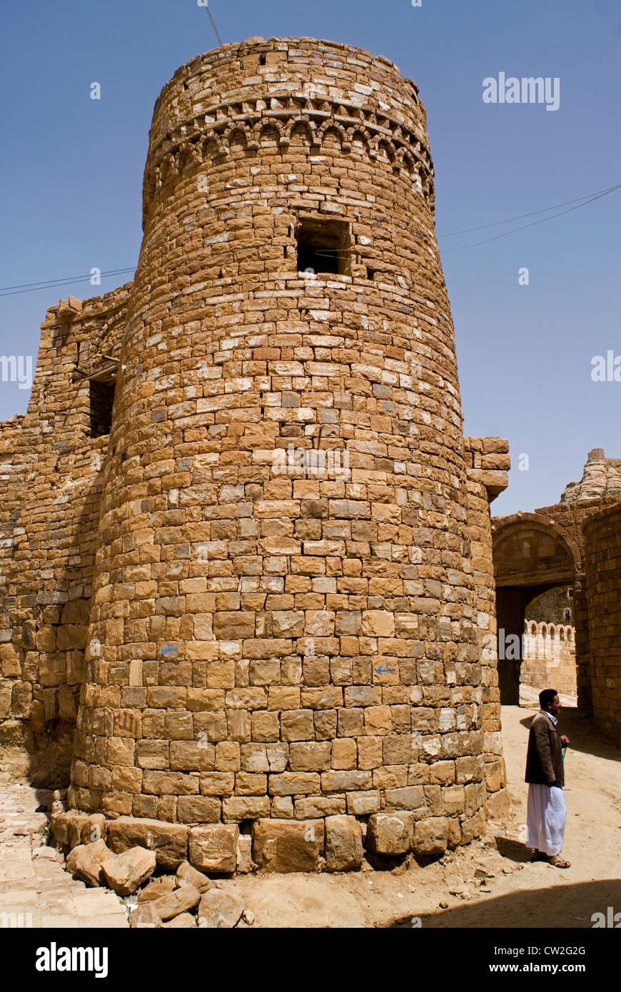 Fortification of Thula, the Highlands region, Yemen, Western Asia, Arabian Peninsula. - Stock Image