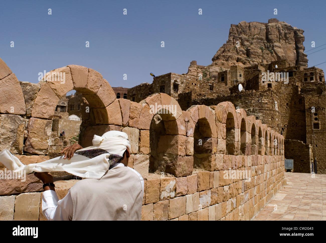 Old village of Thula, the Highlands region, Yemen, Western Asia, Arabian Peninsula. - Stock Image