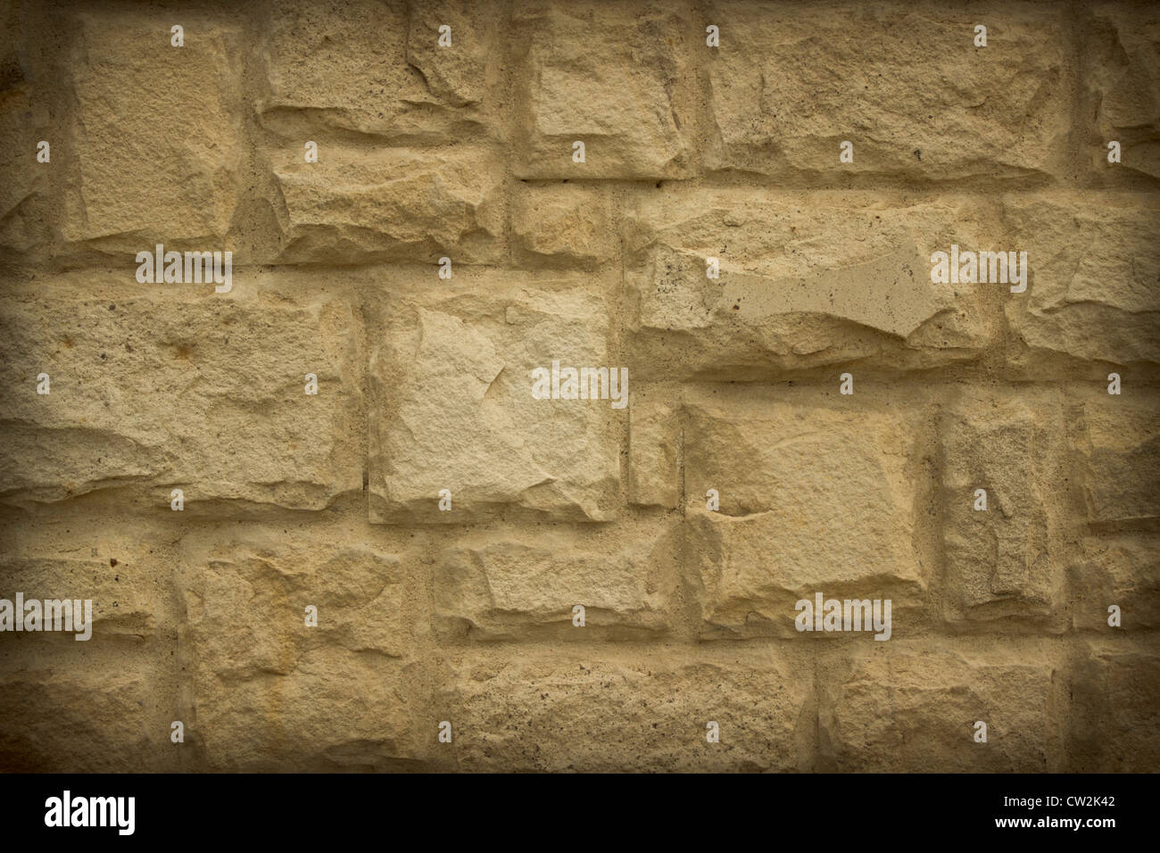 old stone wall can use like nice textured background - Stock Image