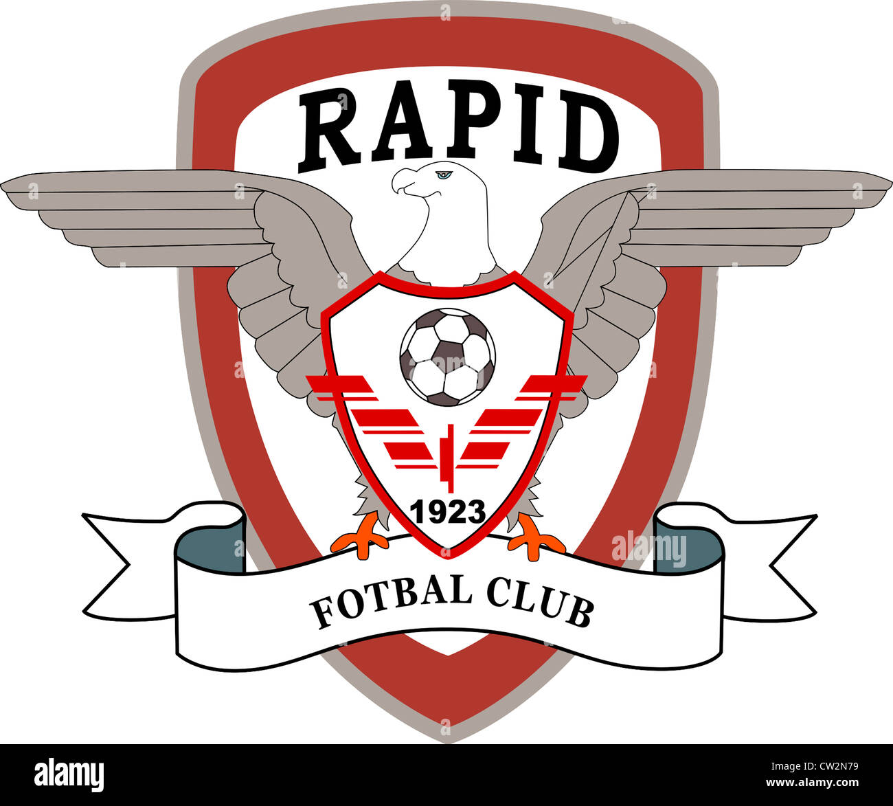 Logo of Romanian football club Rapid Bucuresti. - Stock Image