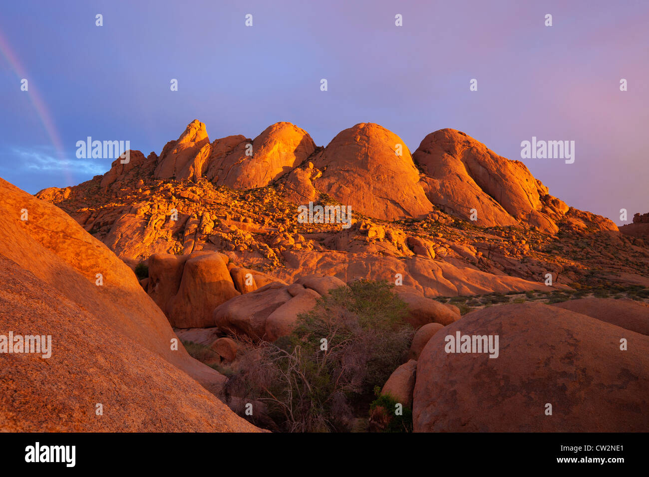 Scenic view of Spitzkoppe and surrounds.Namibia - Stock Image