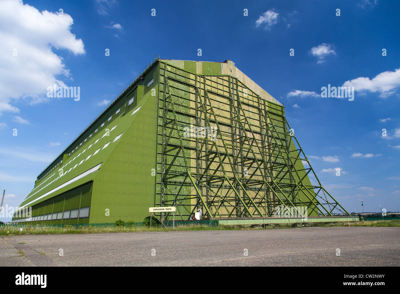 Airship hangar at Cardington, Bedfordshire, base of the R101 airship that crashed in 1930 Stock Photo