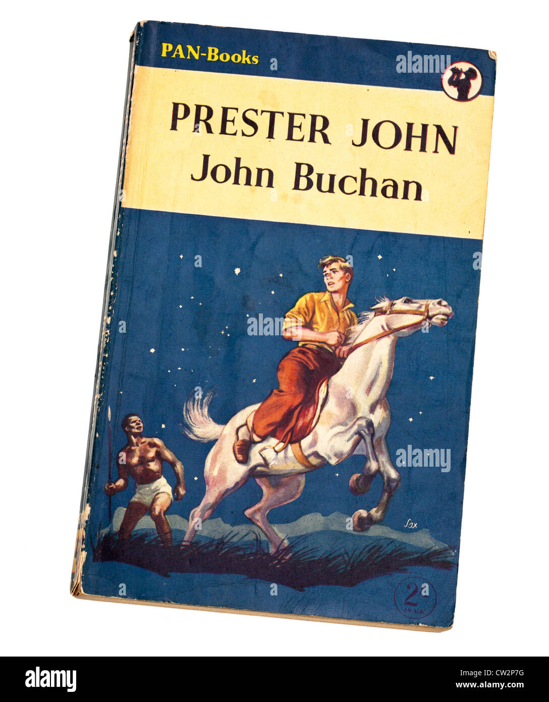 Classic childrens adventure story book Prester John by John Buchan published by Pan - Stock Image