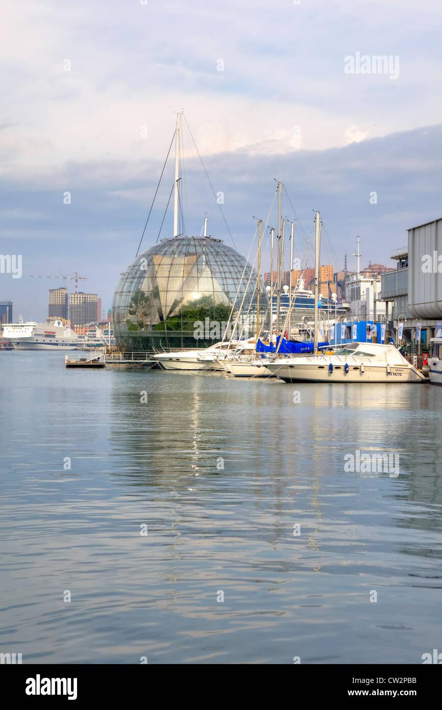 Biosphere, Porto Antico, Genoa, Liguria, Italy - Stock Image