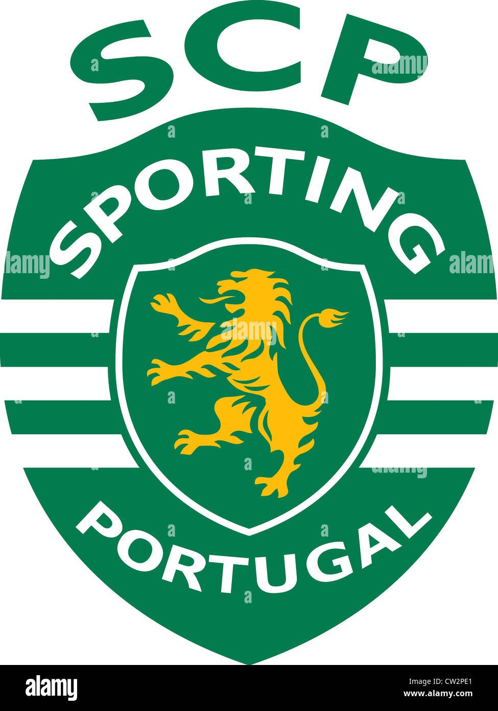 Logo of Portuguese football team SCP Sporting Lisbon. - Stock Image