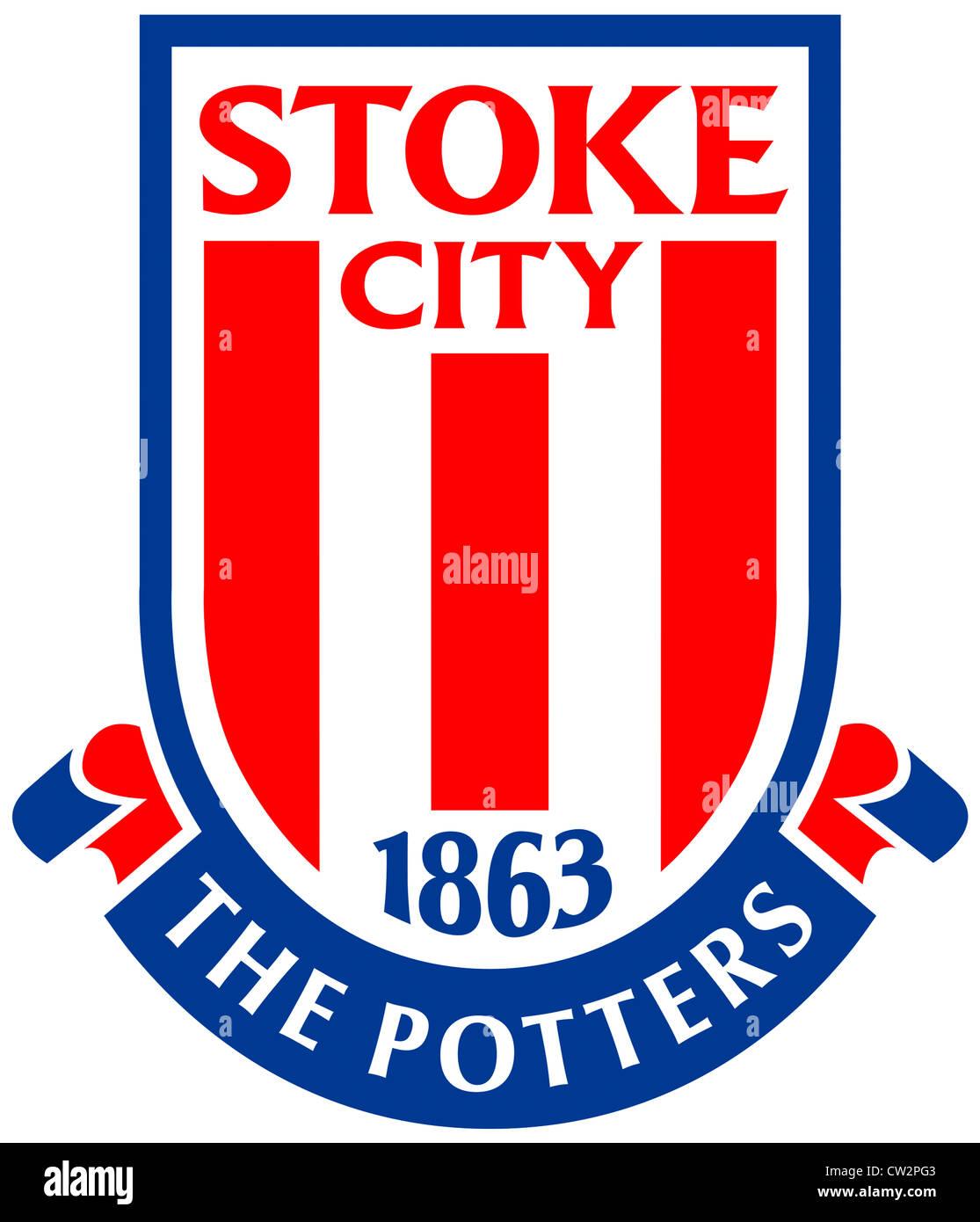 Logo of English football team Stoke City Football Club. Stock Photo