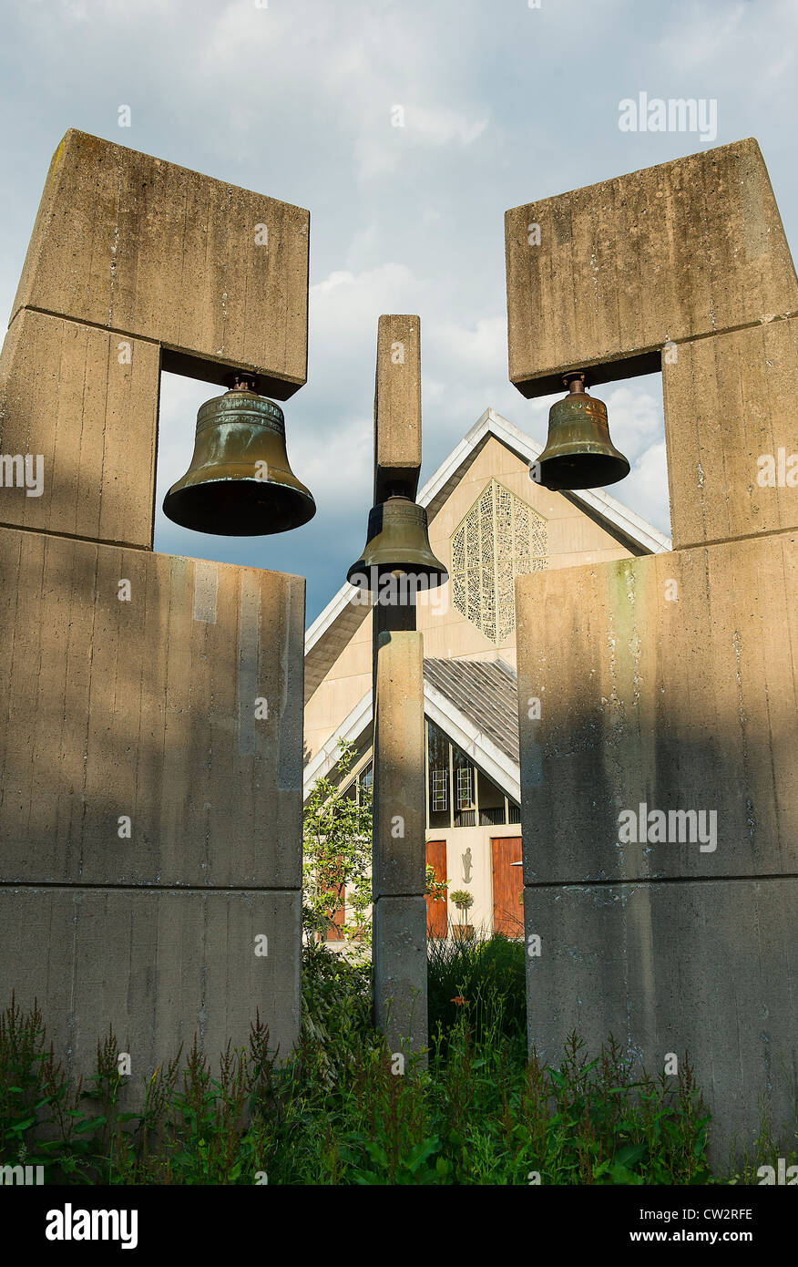 Church bell tower. - Stock Image
