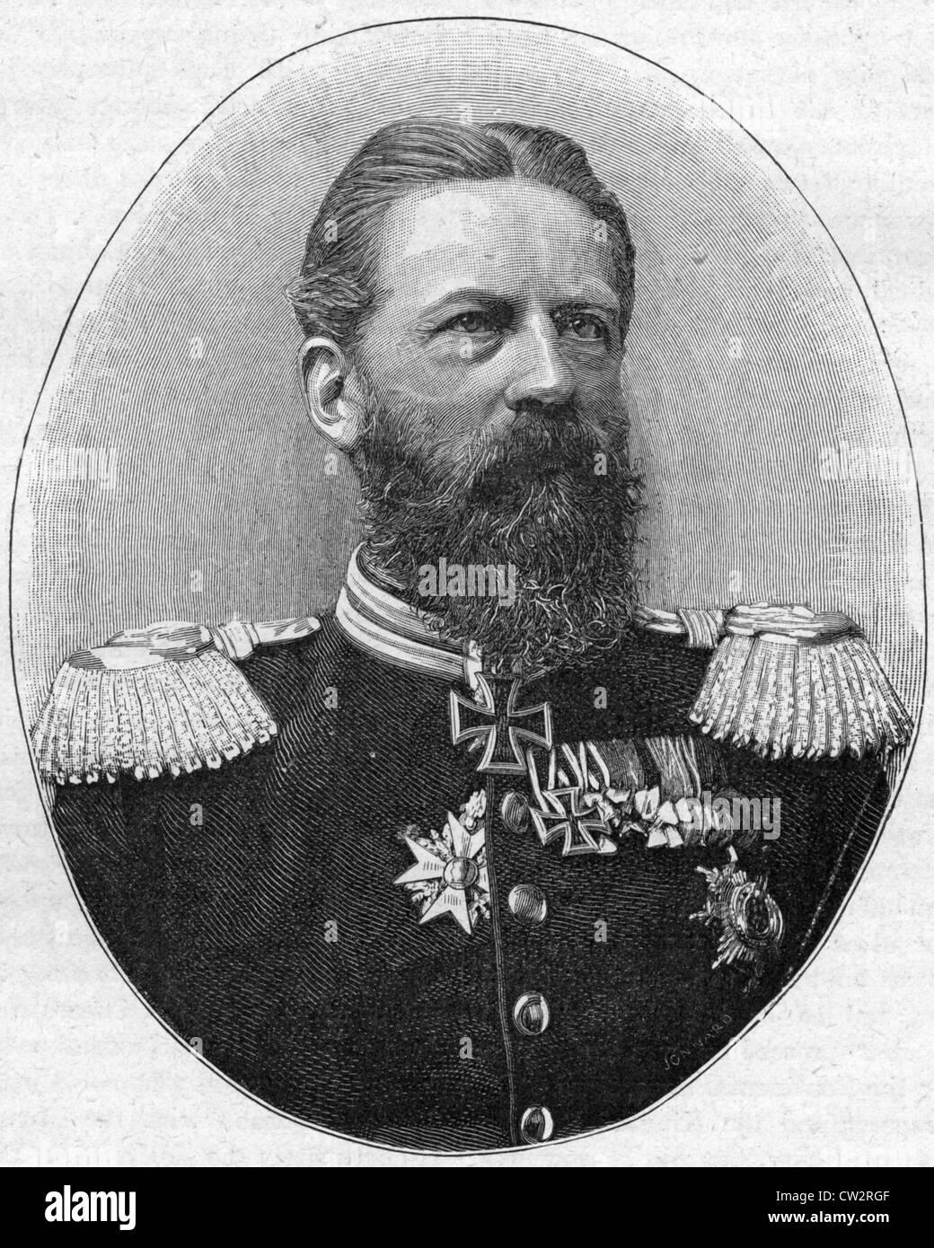 GERMAN EMPEROR FREDERICK III (1831-1888) - Stock Image
