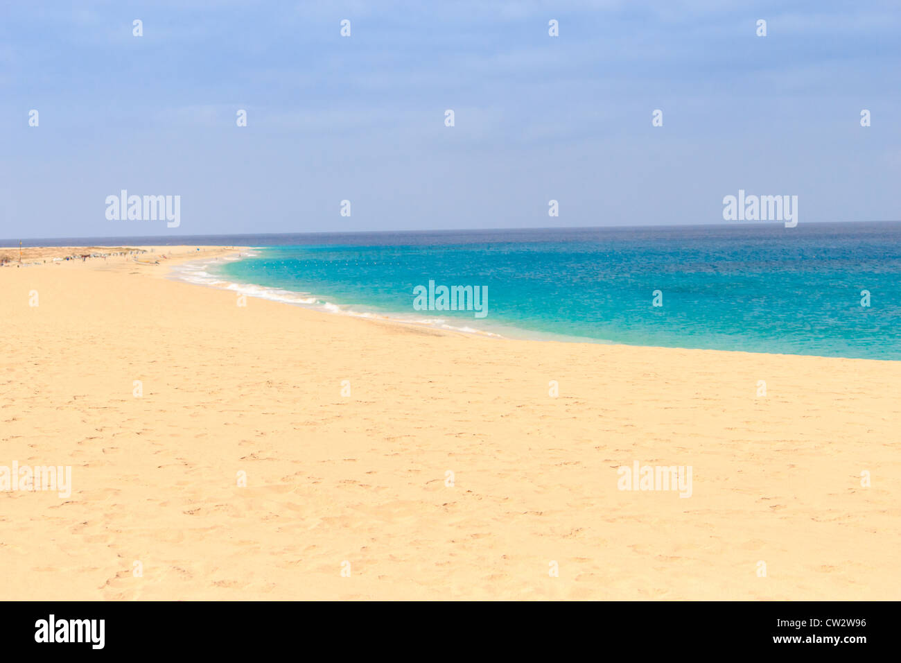 Paradise Island in sal cape verde - Stock Image