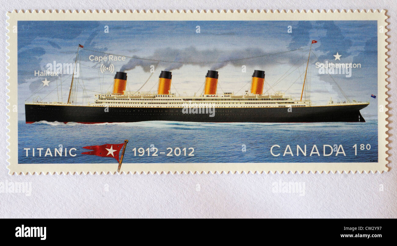 A Canadian Titanic postage stamp - Stock Image