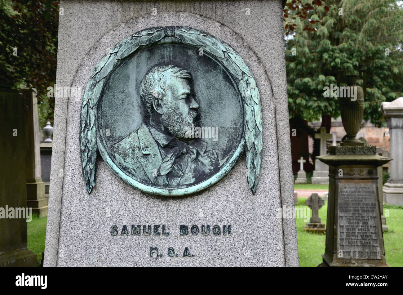 Grave of Samuel Bough RSA (1822–1878) was an English-born landscape painter who spent much of his career working - Stock Image