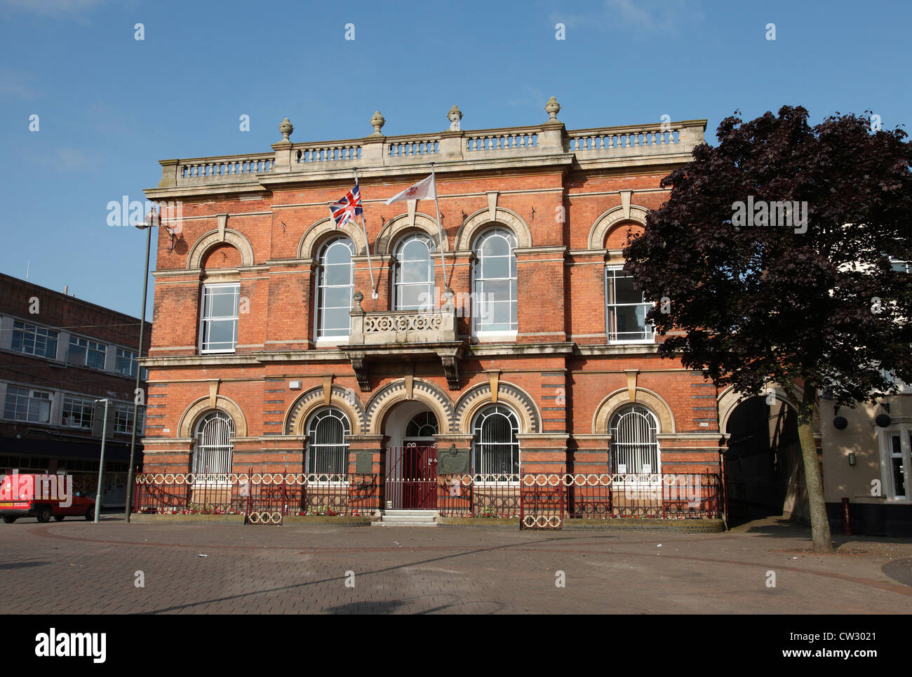 Ilkeston Town Hall, Ilkeston, Derbyshire, England, U.K. - Stock Image