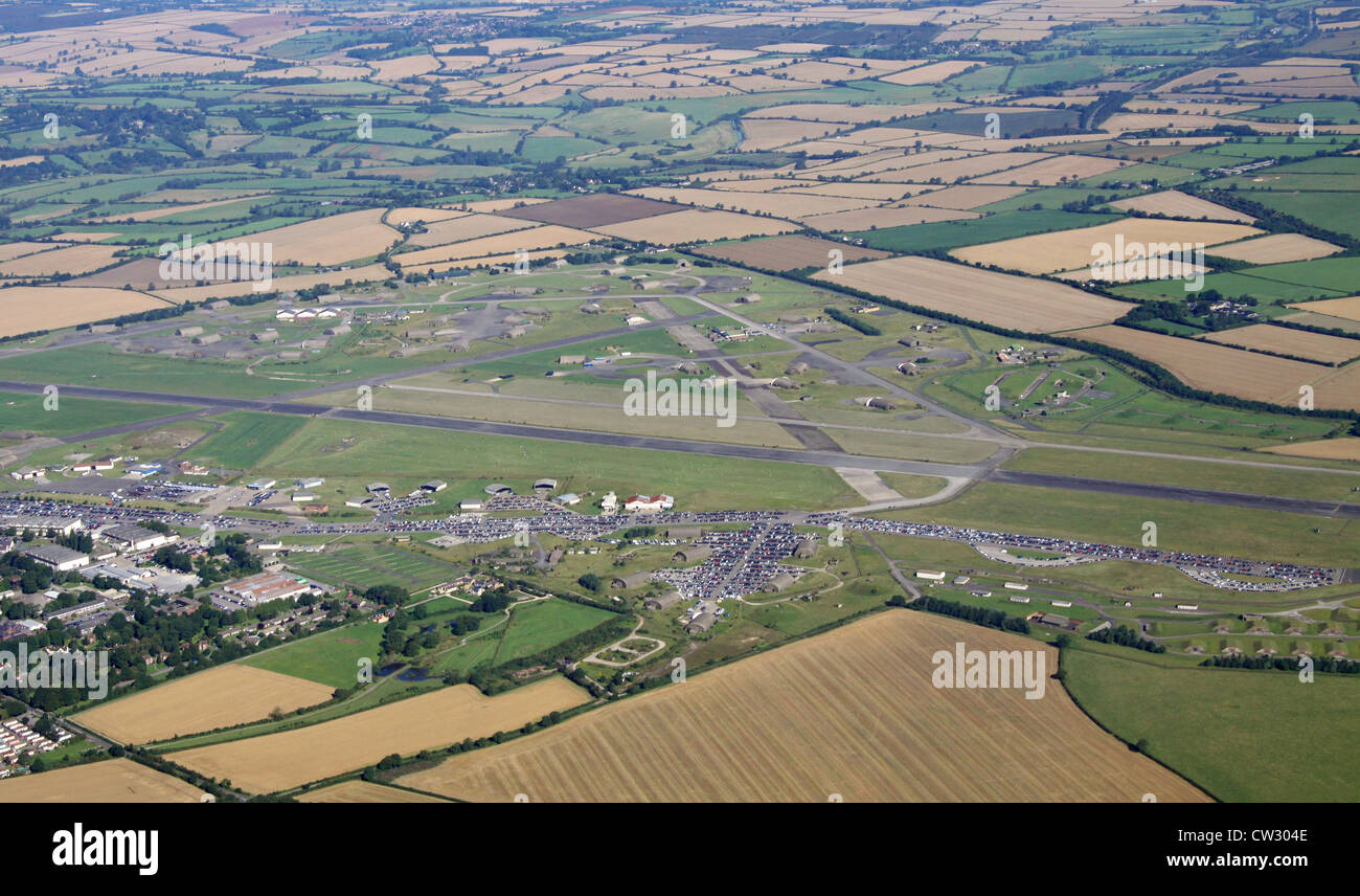 aerial view of Upper Heyford military airforce base in Oxfordshire - Stock Image