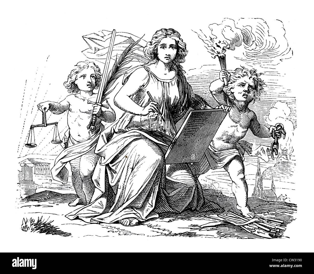 The writer of historical mythology 2 - Stock Image