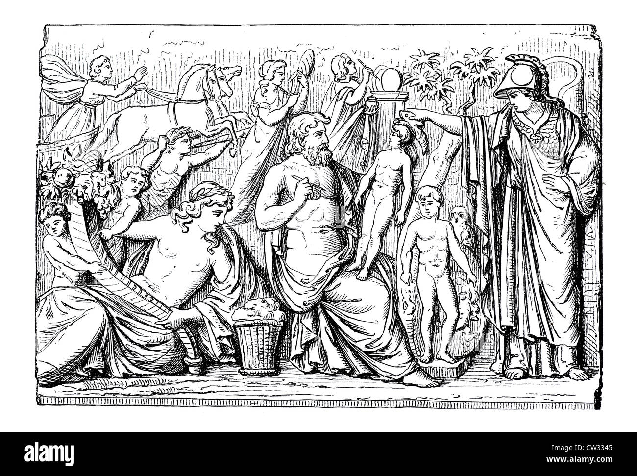Prometheus wakens the humans - Stock Image