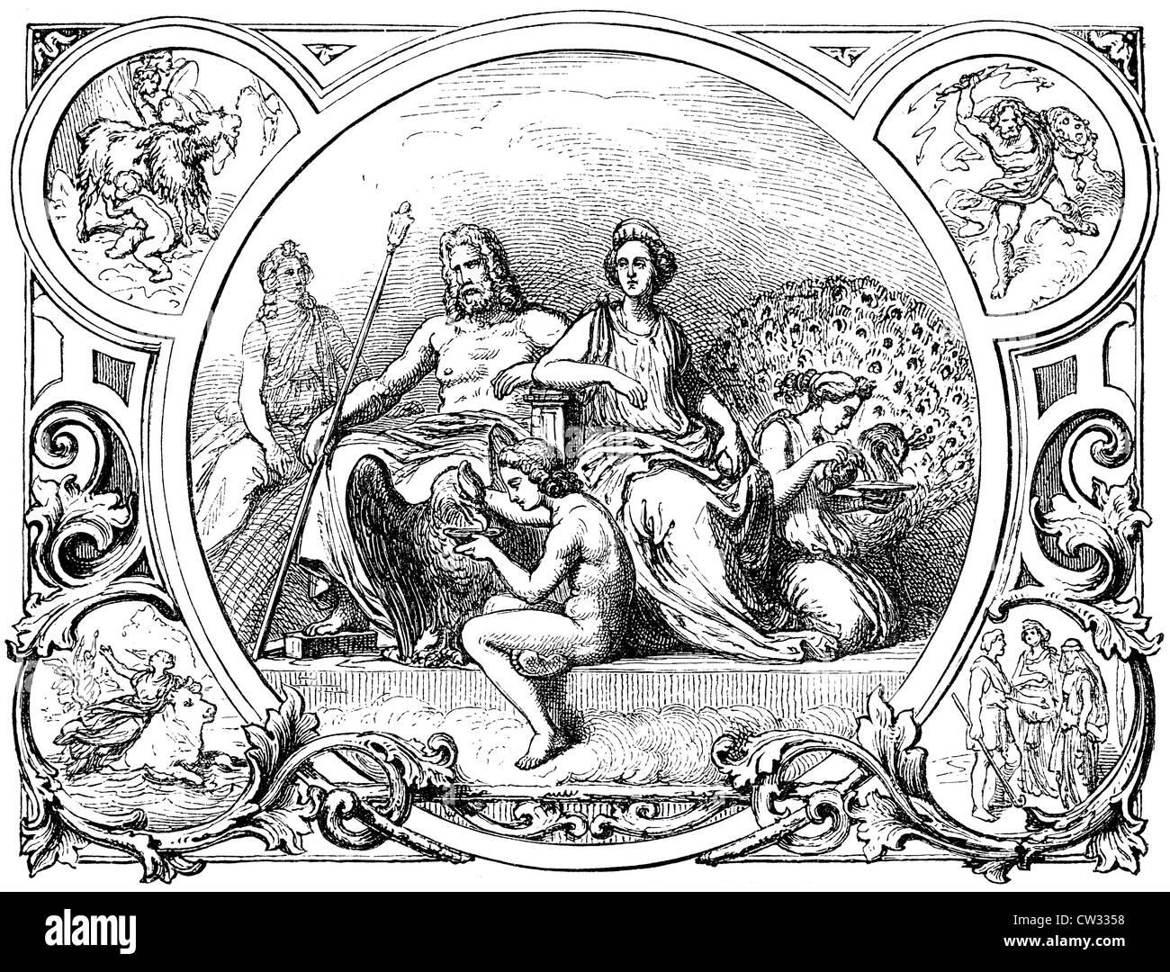 Zeus and Hera - Stock Image