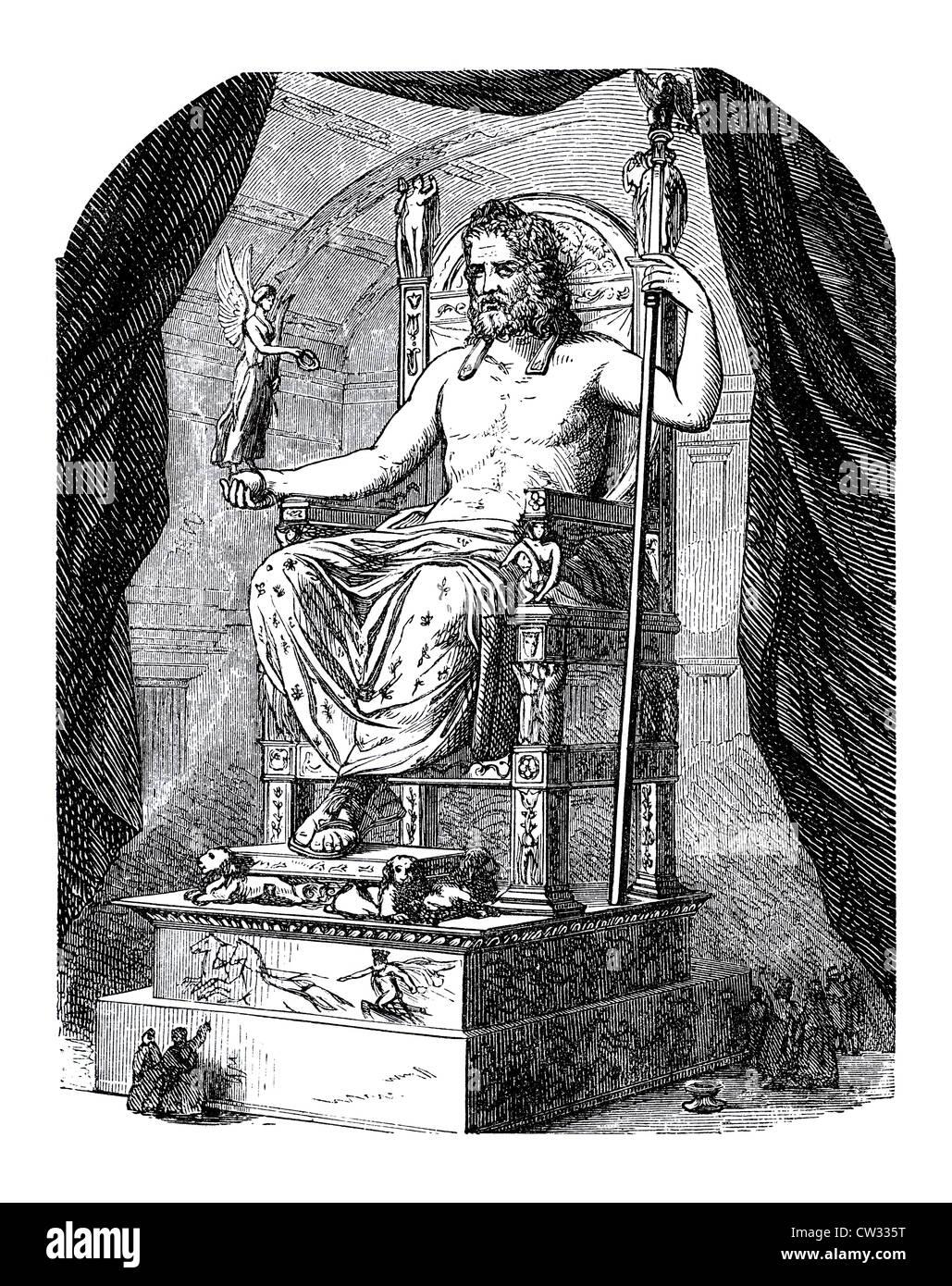 Zeus on the throne - Stock Image