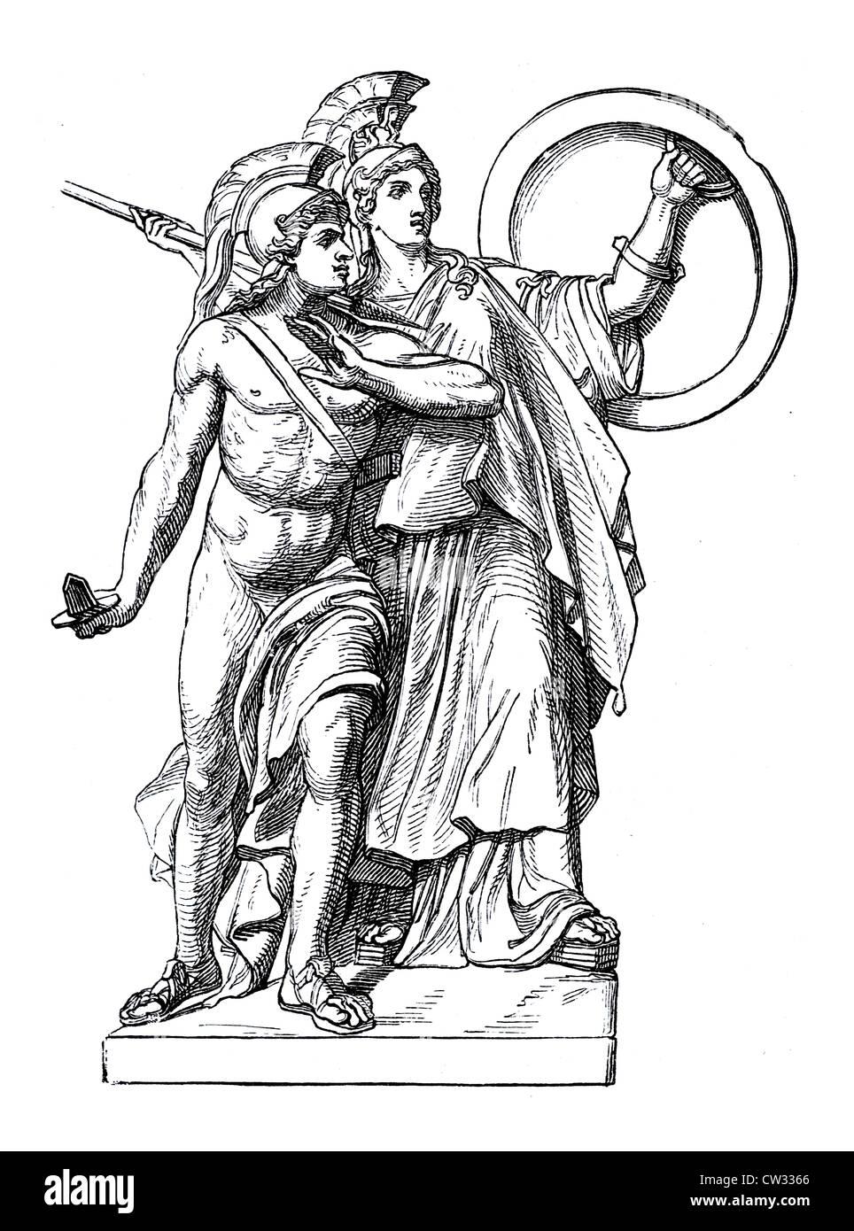 Athena goddess - Stock Image