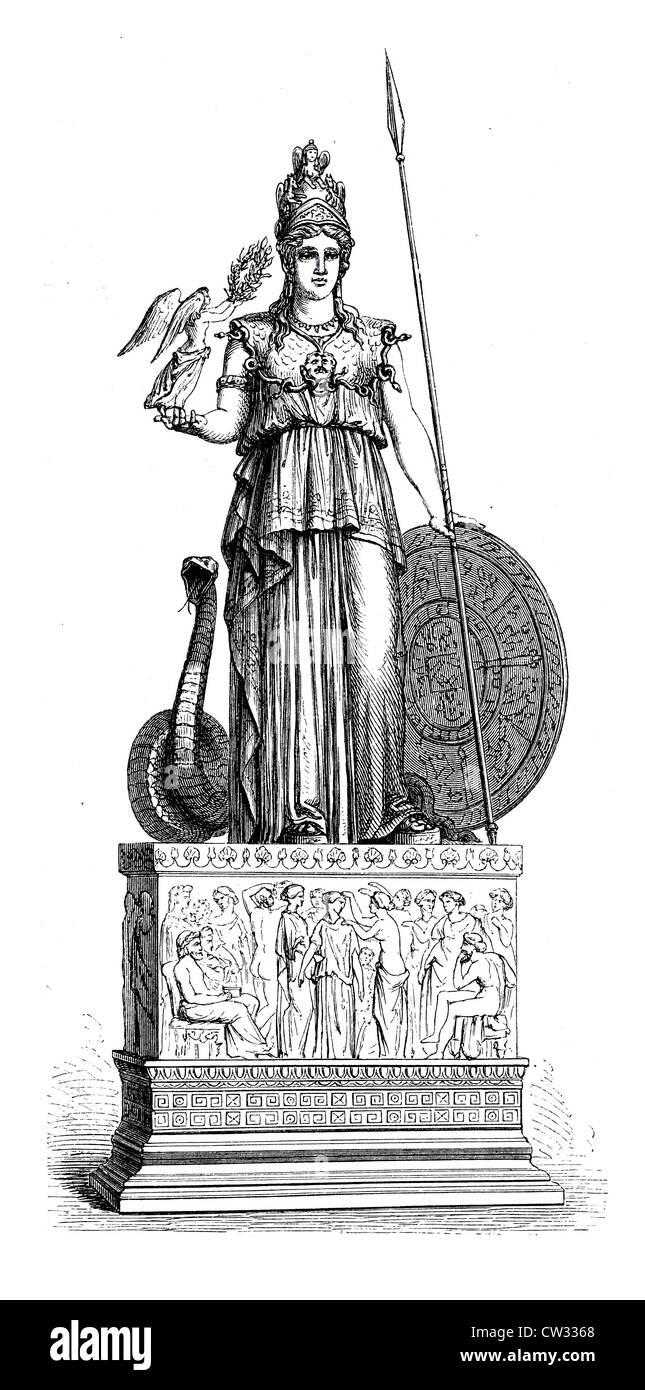 Athena goddess 2 - Stock Image
