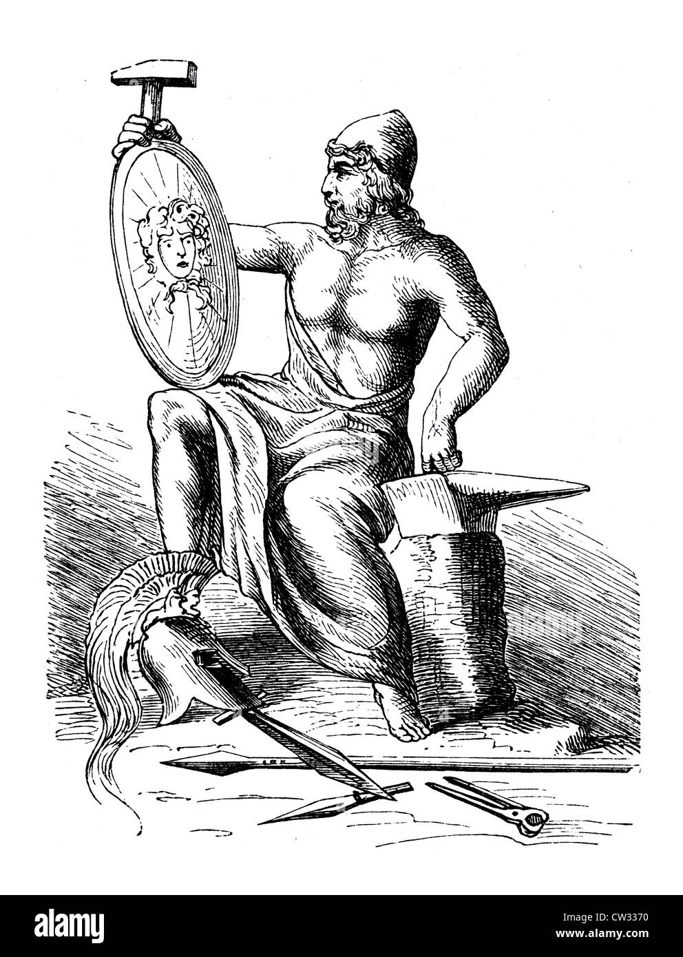 Hephaestus God Stock Photo 49855540 Alamy