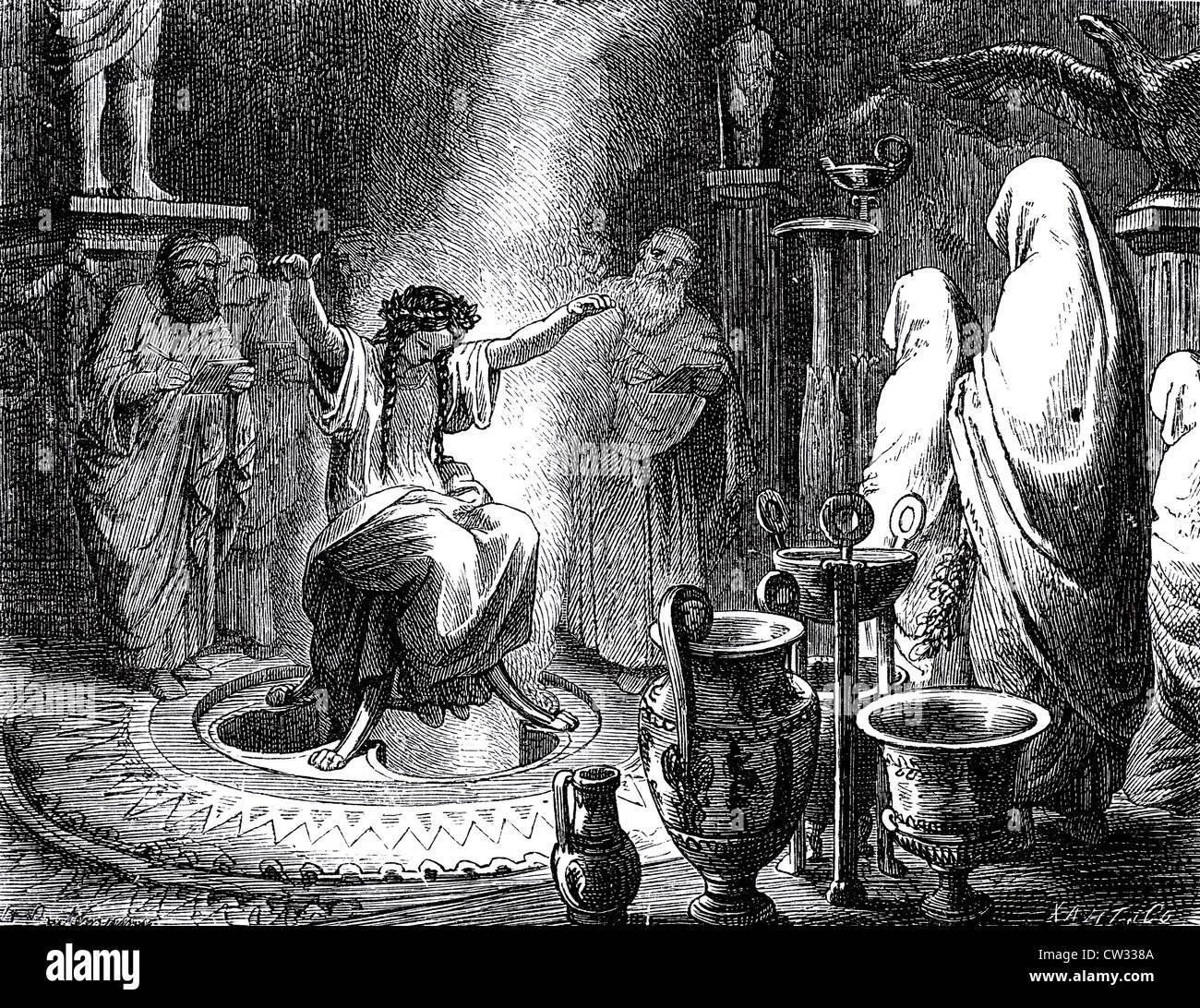Pythia priestess - Stock Image