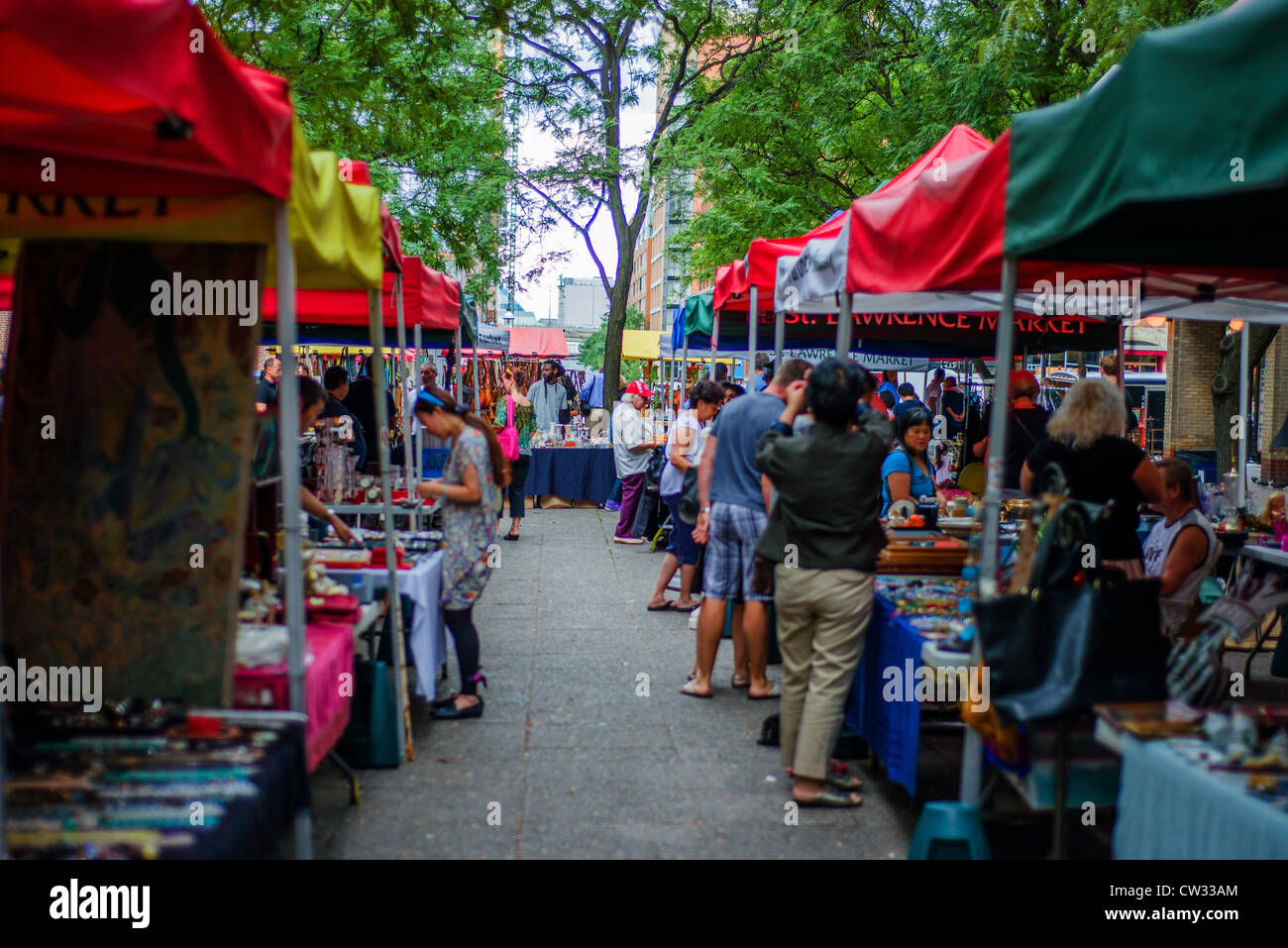 St Lawrence Market antiques fair, Toronto, Canada. - Stock Image