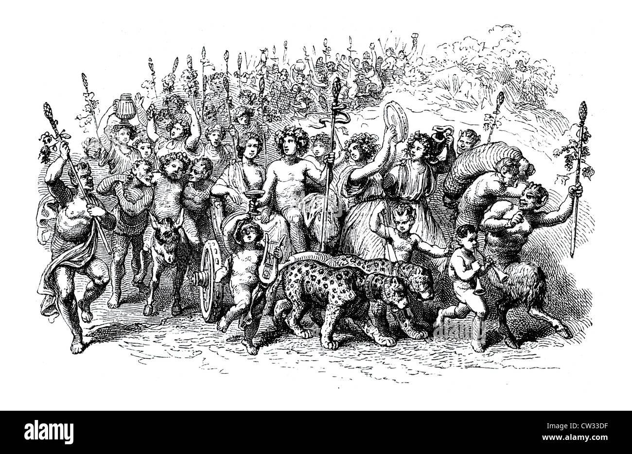 Bacchus procession Stock Photo